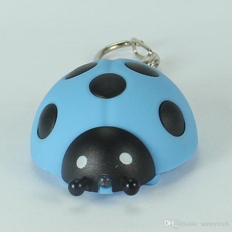 Божья коровка Стиль света LED брелок со звуком фонарик брелки животных брелок подарок для детей бесплатная доставка ZA5328