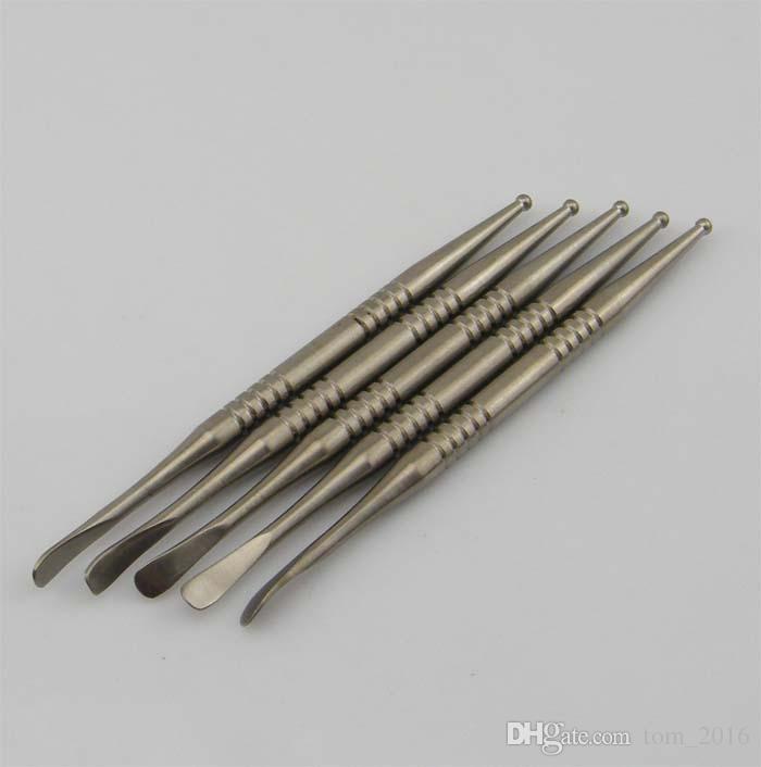 110 mm de comprimento Grau 2 Titanium dabber Domeless Titanium Prego fumar ferramenta ferramenta dabber, transporte rápido