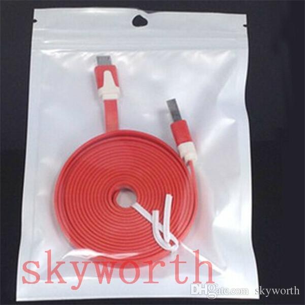 Cancella + Plastica bianca Poly Poly OPP Imballaggio Zipper Zip Zip Block Pacchetti al dettaglio PVC Sacchetto custodia iPhone 6 6s Plus Samsung Galaxy
