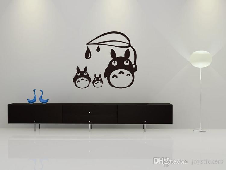 Anime Cartoon Raindrop Totoro Children's Room or Baby Nursery Children Wall Paper Sticker Wall Sticker Decal Home Decor For Anime Fans
