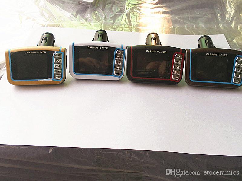 1,8 pulgadas CSTN coche del transmisor de MP3 MP4 FM estéreo inalámbrico 1.8 SD MMC LCD remoto por infrarrojos Multi-idiomas