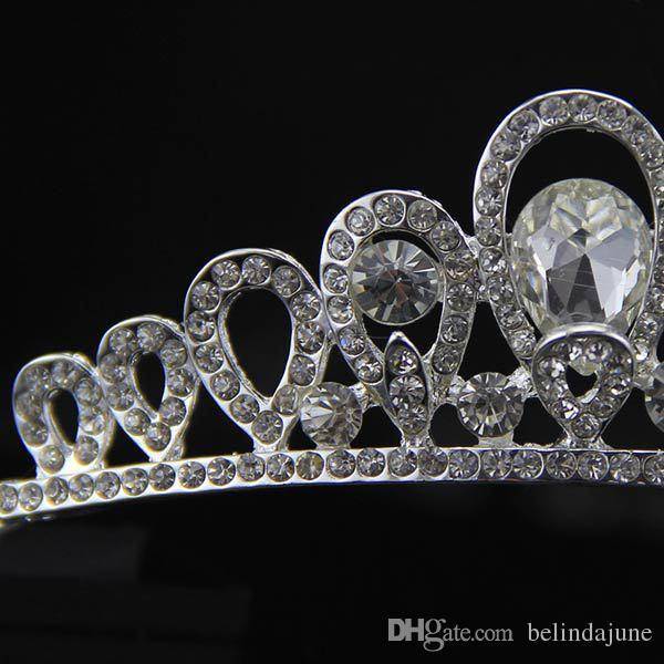 Moda Gelin Saç Aksesuarları Yapay Tamamen Taklidi Süslenmiş Saç Tiaras Başlığı Performans Şapkalar Gelin Düğün Için Çin'den