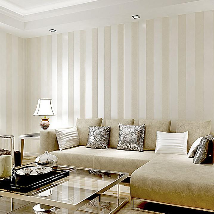 Superb Striped Living Room Wallpaper Part   5: Hot Sale Metallic Wide Stripe  Modern Wallpaper Part 11