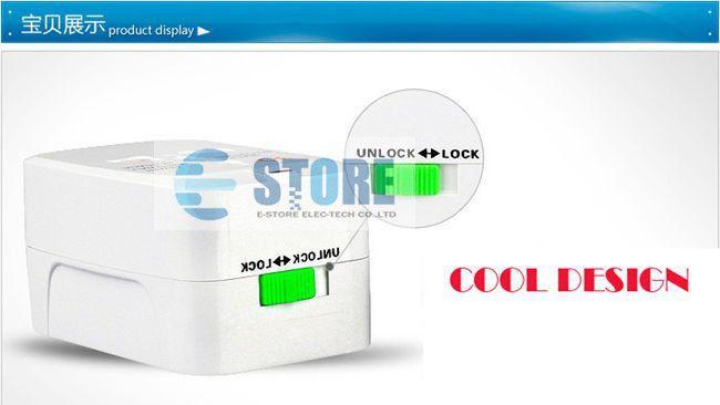 Самая низкая цена 200 шт. / лот мир Универсальный адаптер переменного тока конвертер адаптер Международного путешествия вилка ЕС США Великобритания расширение DHL / FEDEX, wu