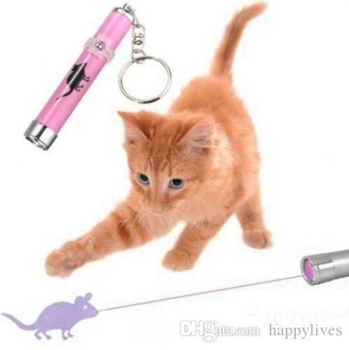 Laser pointer for cat toy PET Funny Cat Dog Pet Toys LED Laser Pointer light Pen With Bright Mouse Animation Pets Supplies