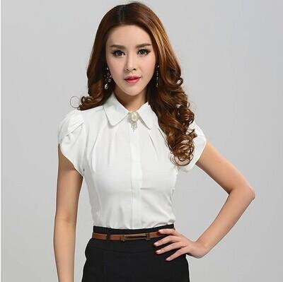 Discount New Lady Office Shirt 2015 Work Wear Women Tops Butterfly ...