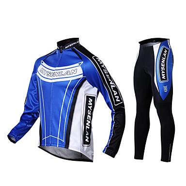 68176eb57 MYSENLAN Men s Warm Cycling Jersey+Tights Pants Suit Fall And Winter ...