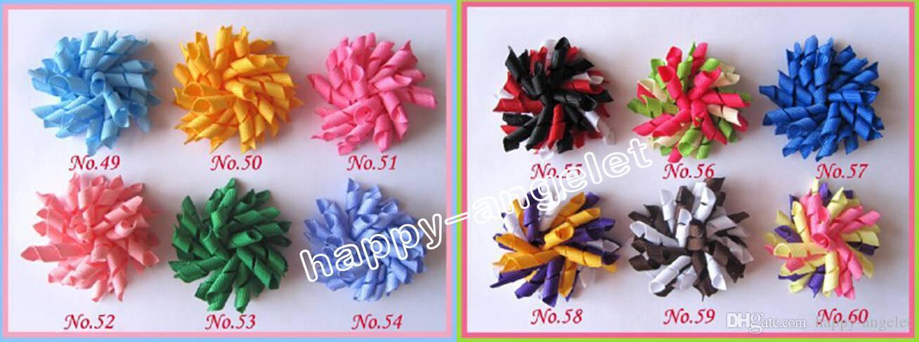 2.5 inch baby Romantic curlers bows flowers corker hair barrettes korker ribbon hair clip hair bobbles hair accessories kids PD007
