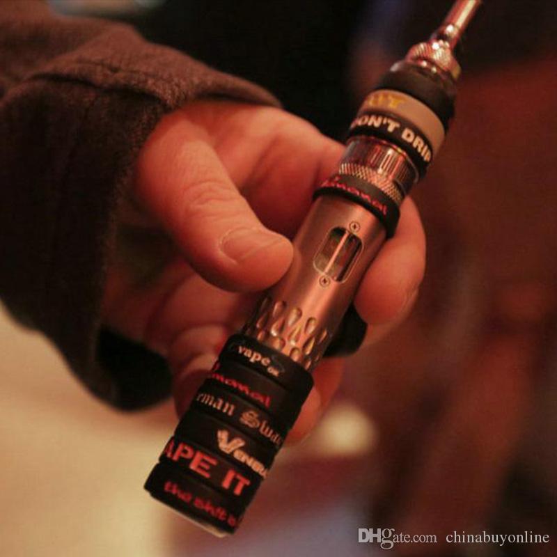 Anillo de silicona antideslizante para cigarrillos electrónicos de 22 mm mods 18350 18650 serie anillo antideslizante decorativo y protección de la batería de protección