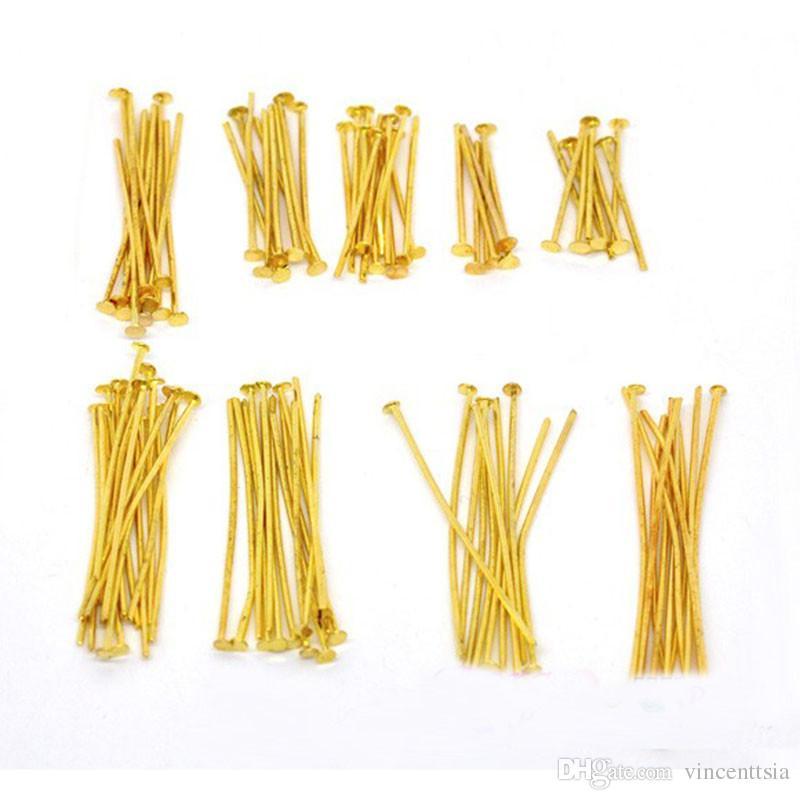 Perni a testa piatta occhielli Aghi Chiusi Loops perline perline gioielli Creazione di gioielli Componenti di connettori accessori