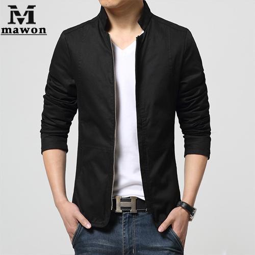New 2015 Spring Cotton Casual Men Jacket Slim Fit Bomber Jacket ...