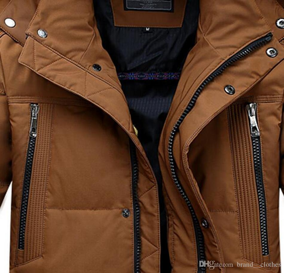 Outdoor thermal brand new authentic cultivate one's morality men with hood brought more than long down jacket coat pocket zipper. S - 2xl