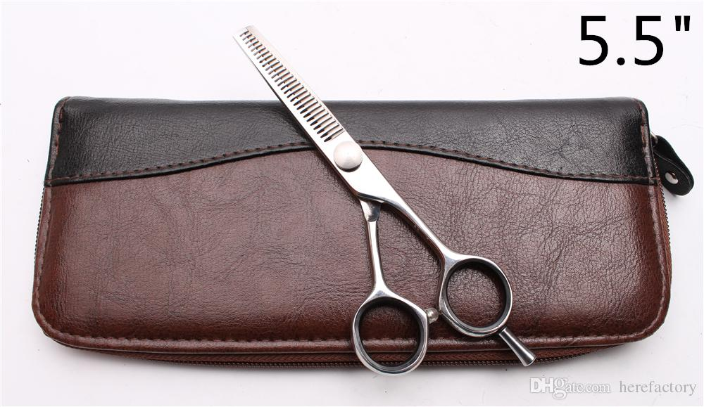 "C1021 5.5"" 16cm Japan 440C Laser Customize Logo Professional Human Hair Scissors Barbers' Scissors Cutting Thinning Shears Salon Style Tools"