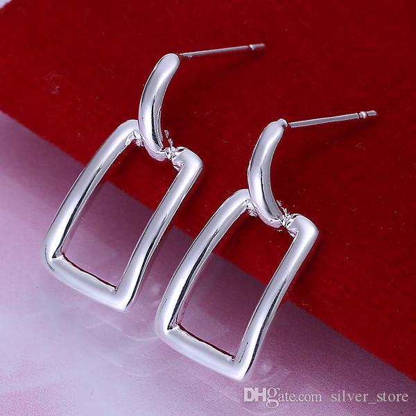 긴 중주 창 Erding의 DFMSE057 도금 브랜드의 새로운 스털링 실버, 여성 925 실버 매달려 샹들리에 귀걸이 10쌍 많은