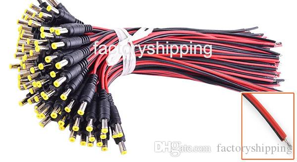 DC power connector cable 12V monitor connector CCTV Security Camera Power Pigtail 2.1mm Female Male Cable Fedex/DHL