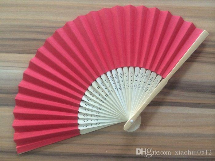 2018 Red Foldable Bamboo Wedding Hand Fans Favor Gifts Promotional Party 003 From Xiaohui0512 13