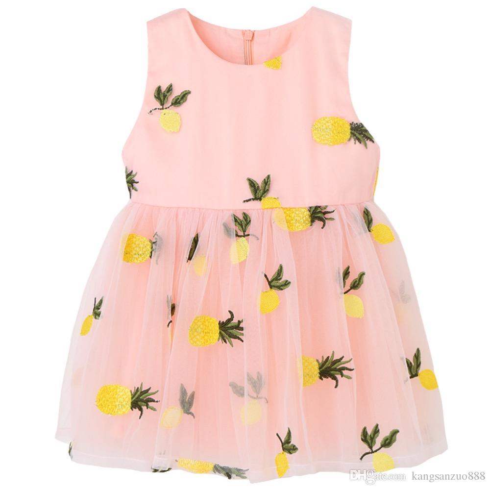 Compre Vestidos De La Princesa Del Verano De Los Niños Vestidos De ...