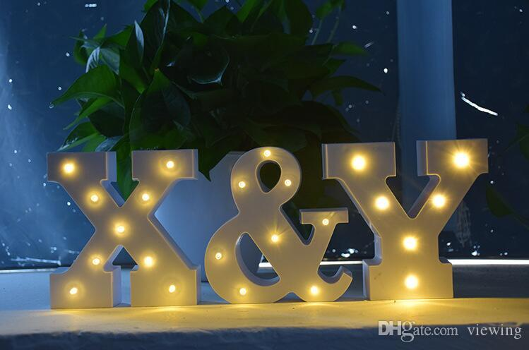 A Z Alphabet Letter Led Light White Light Up Decoration Symbol Indoor Wall Decoration Wedding Party Window Display Light Led Controller Led Grow From ... : az led lighting - www.canuckmediamonitor.org
