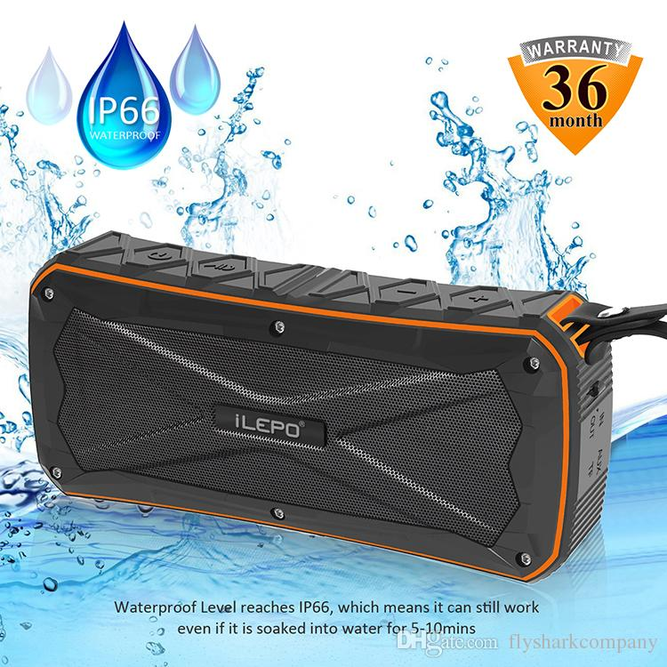 Best Portable Bluetooth Speaker Super Bass Stereo sound Mobile Speakers IP66 Waterproof Wireless Speakers BT4.1 Speaker Charge