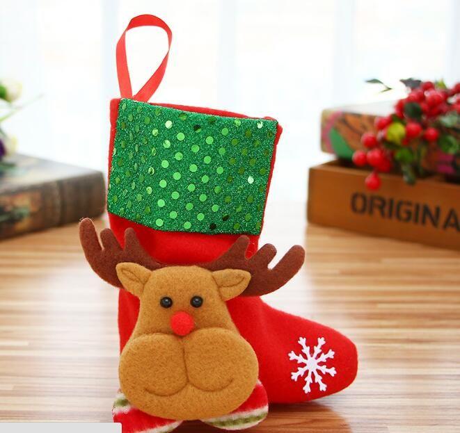 Christmas decorations, Christmas tree ornaments candy socks old Christmas sock Snowman deer bear explosion