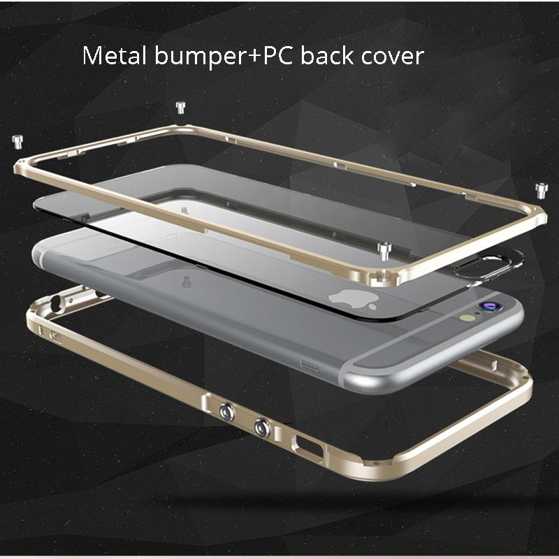 Cover For Iphone 6 S Plus Luxury Metal Bumper For Apple Iphone 6s Plus  6plus Phone Cases Aluminum Frame Accessories Casing Capa Mobile Phone Cases  Cell ... c3abf4c678