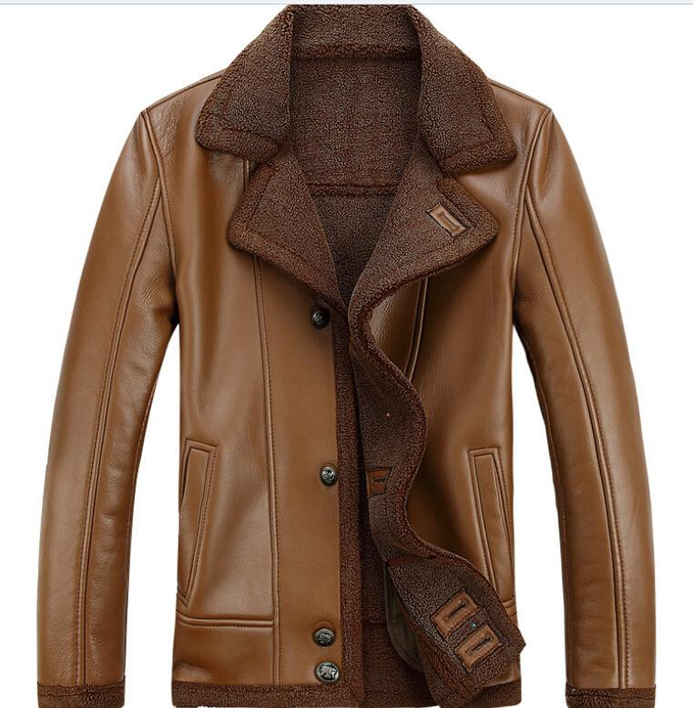 2017 2016 New Men'S Jacket High Quality Leather Jacket Fur Leather ...