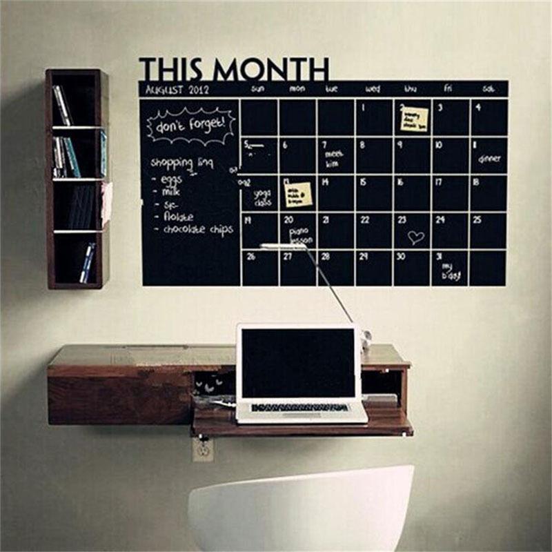 New Blackboard Wall Sticker Removable Vinyl Month schedule Chalkboard Wallpaper for Home Office Classroom Decor Week Planner