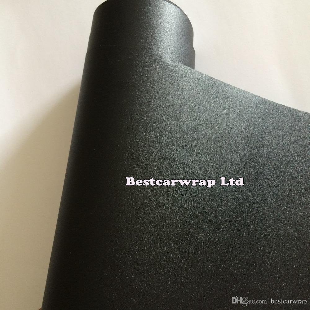 Sandy Black Frost Matte Vinyl Wrap With Air Free Frosty Matt black Car Decals & Stickers Exterior Vinyl sheets 1.52x30m/Roll 4.98x98ft