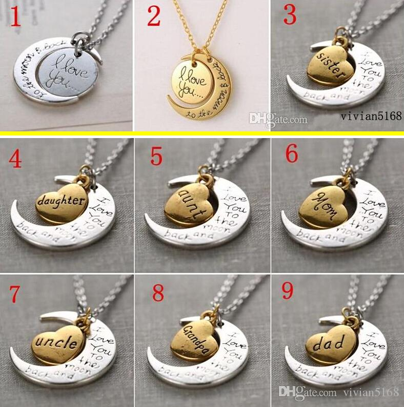 girl and love chain day you necklace silver the back moon to pendant s gift dhl women jewelry quot valentines product i free store statement valentine
