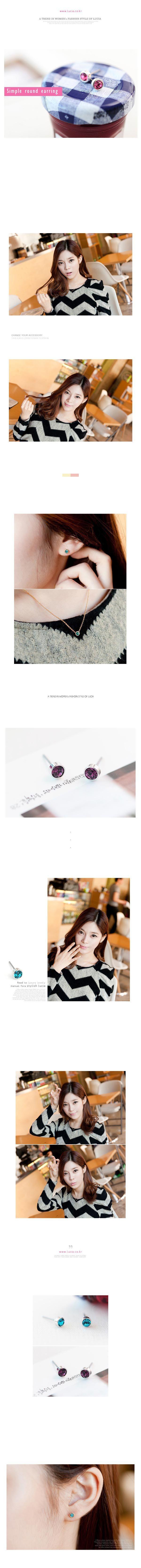 Mignon femmes boucles d'oreilles charme boucles d'oreilles oreille Stud brillant strass boucles d'oreilles bijoux Accessoires multicolore Simple cristal autrichien boucle d'oreille 5mm