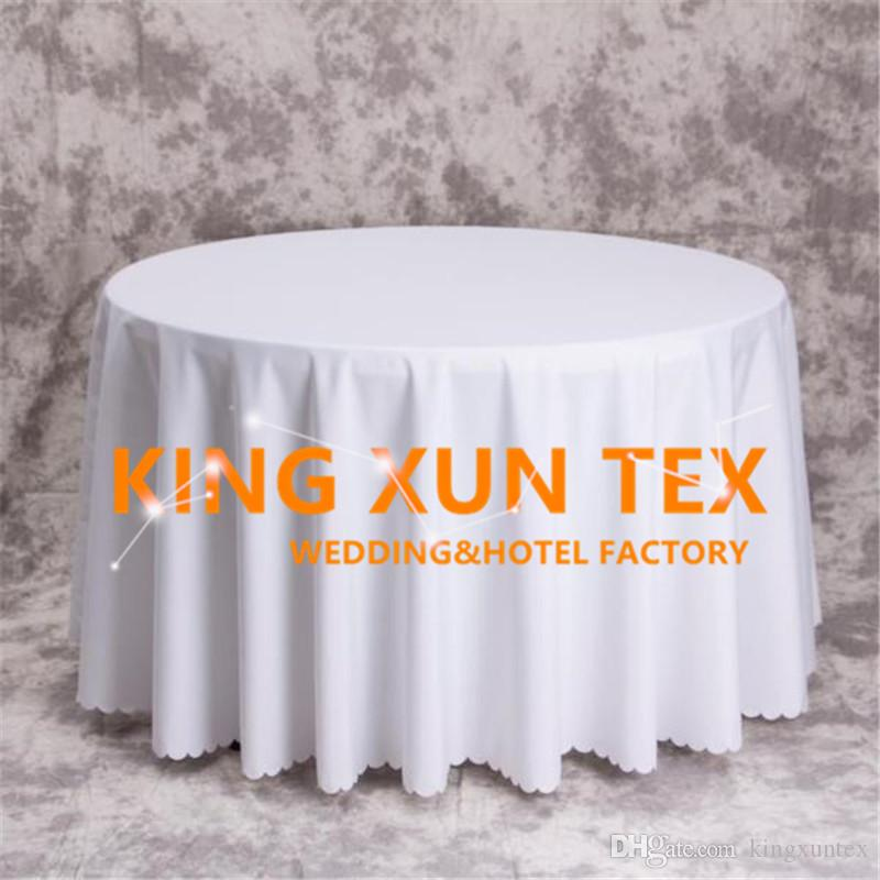 Thick Round Plain Poly Table Cloth \ Cheap Tablecloth For Wedding And Event Decoration