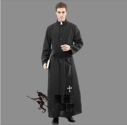 2015 Hot Sale Adult Pastor Priest Monk Robe Costume Suit Godfather Missionary Priest Serving Priest Serving Halloween Clothing Halloween Costumes Groups ...  sc 1 st  DHgate.com : priest robe costume  - Germanpascual.Com