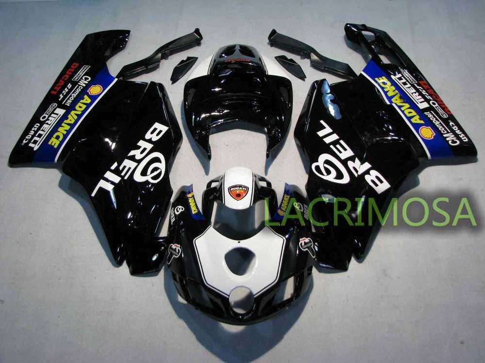 Carenado ABS para DUCATI 749 999 03-04 kits de cuerpo de plástico bodykits Injection Mould-Black BREIL