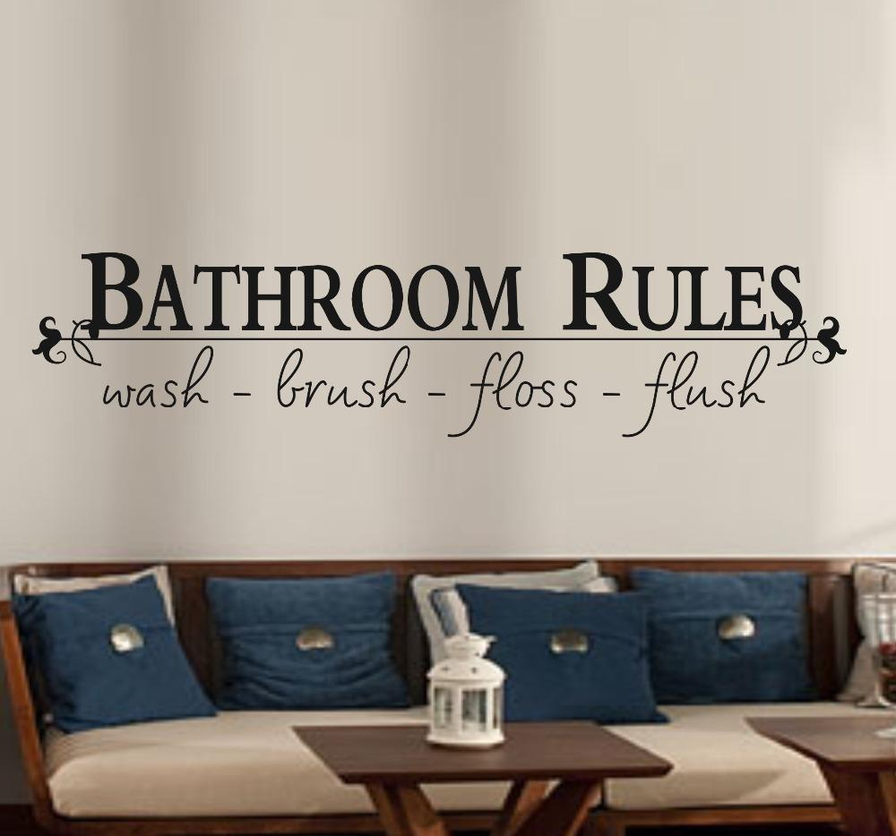 Attrayant Bathroom Rules Home Decoration Creative Quote Wall Decals Decorative  Adesivo De Parede Removable Vinyl Wall Stickers Decal Wall Sticker Decal  Wall Stickers ...