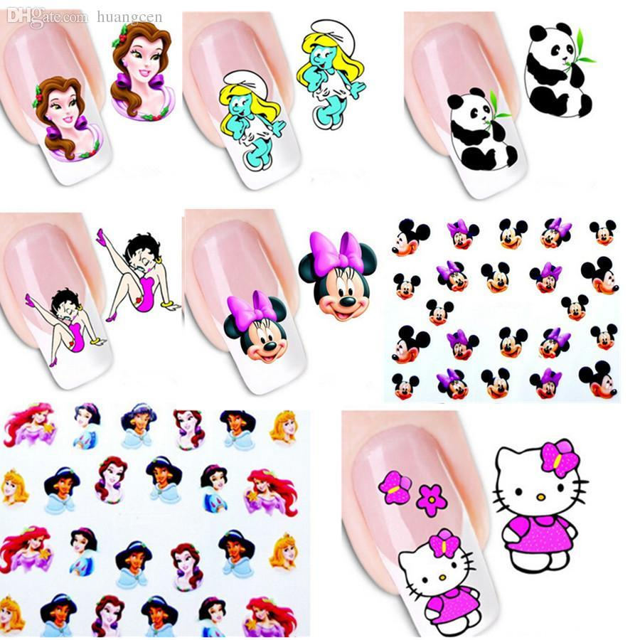Wholesale 30sheets Nail Art Stickers Water Transfer Decals Cartoon ...