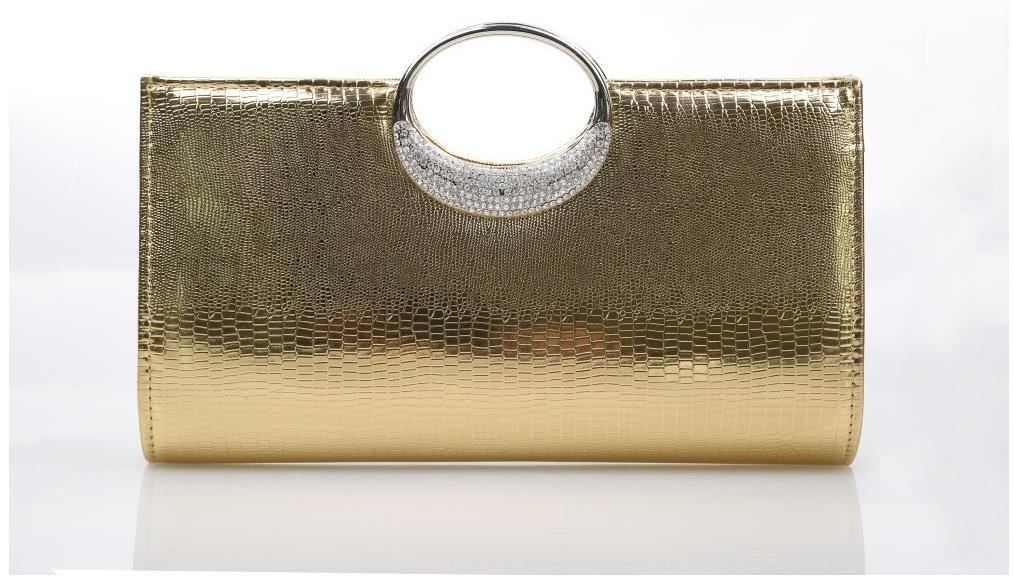 Hot Fashion Evening Clutch Bag 2016 Latest Alligator PU Diamonds ...