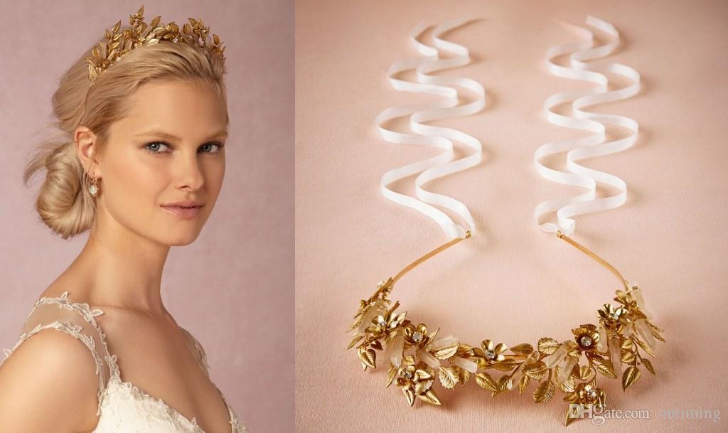 Rose Gold Wedding Hair Accessories Fl Bridal Headband Headpieces Elegant