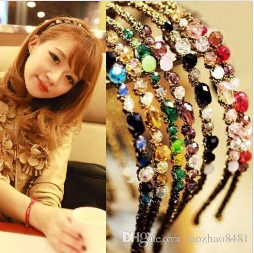 e59046b3464 New Fashion Women Girls Rhinestone Crystal Headband Delicate Glitter Hair  Band Kids Hair Clips Kids Hair Bows From Laozhao8481