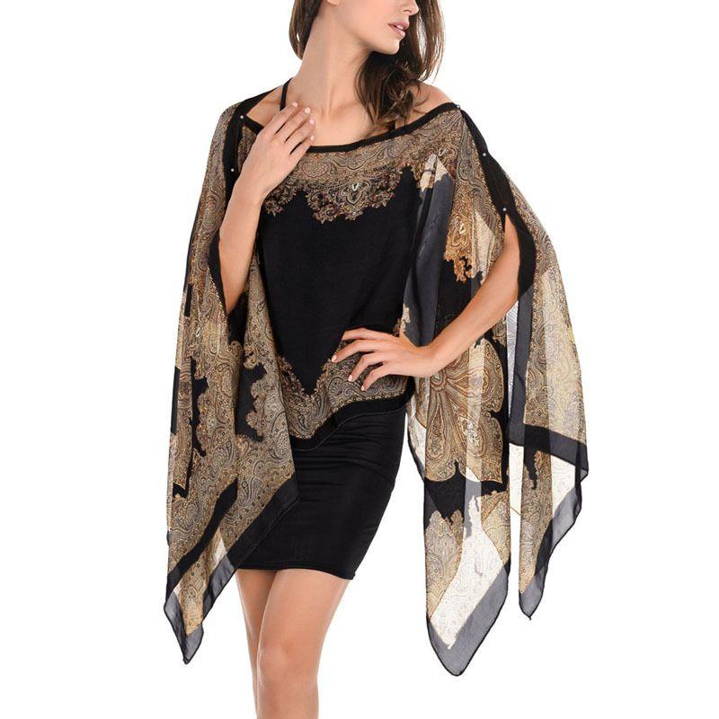 النساء شال الشيفون شال بحر ربيع جديد 2017 أزياء المرأة الحرير وشاح الشيفون وشاح شالات
