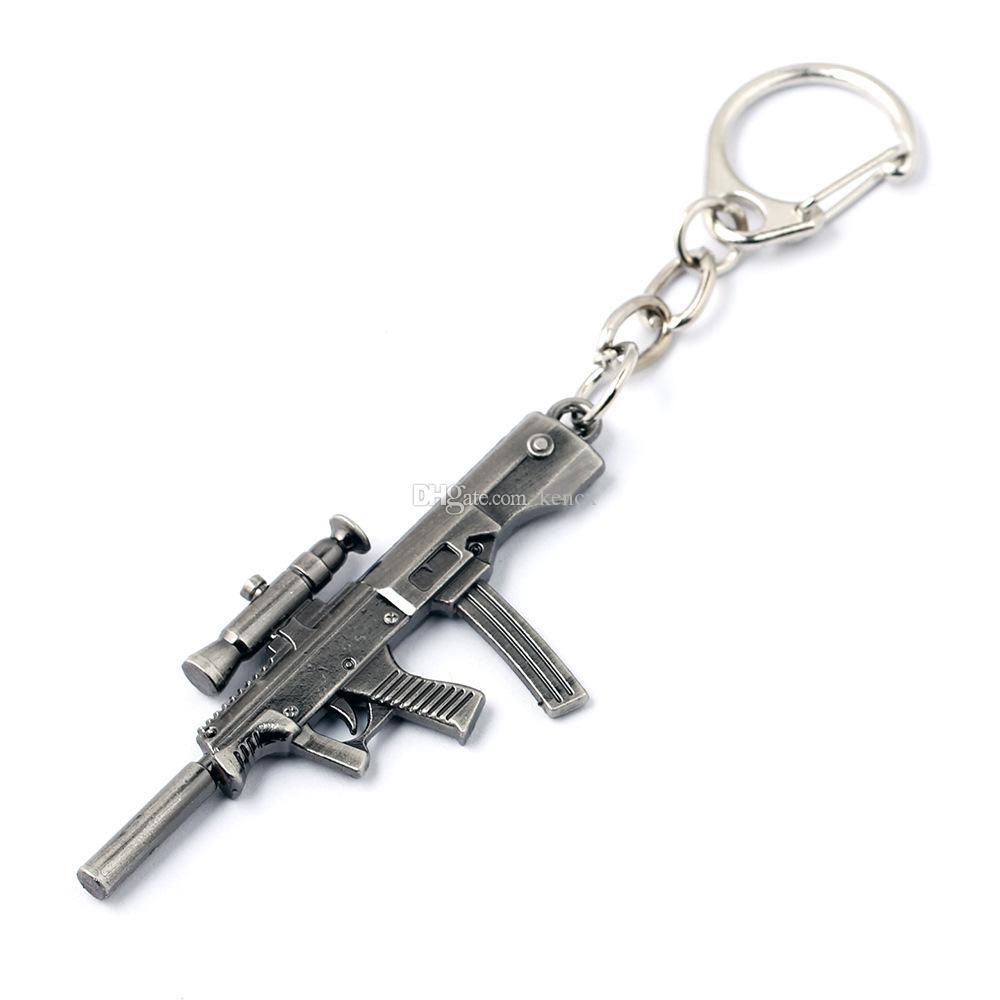 10 أنماط محاكاة سلاح نموذج المفاتيح بندقية مفتاح سلسلة سيارة كيرينغ كول رجل غطاء مفتاح المجوهرات