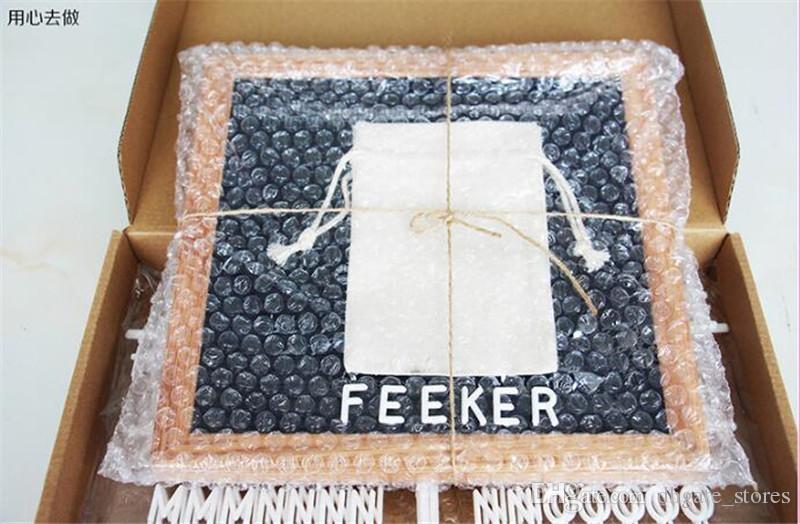 DIY Black Felt Letter Board 10 * 10 '' 340 Caractères lettres babillards GRATUITS Artisanat Couteau sac en tissu Cadre En Bois Chevalets