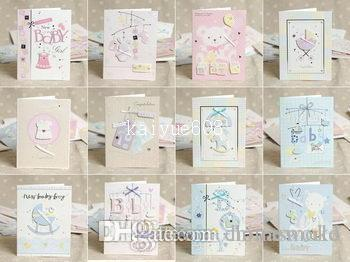 E130 MINI 1301 12 Designs Lovely New Born Baby Handmade 3D Greeting Cards With Envelope Birth Congratulation Gift 105140mm Bday Beautiful Birthday