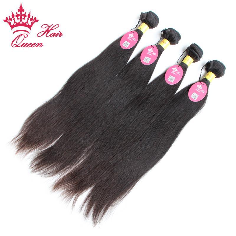 Queen Hair Officiell butik Peruvian Virgin Hair Straight Extensions 12Inch till 28 tum Obehandlat Remy Human Hair,