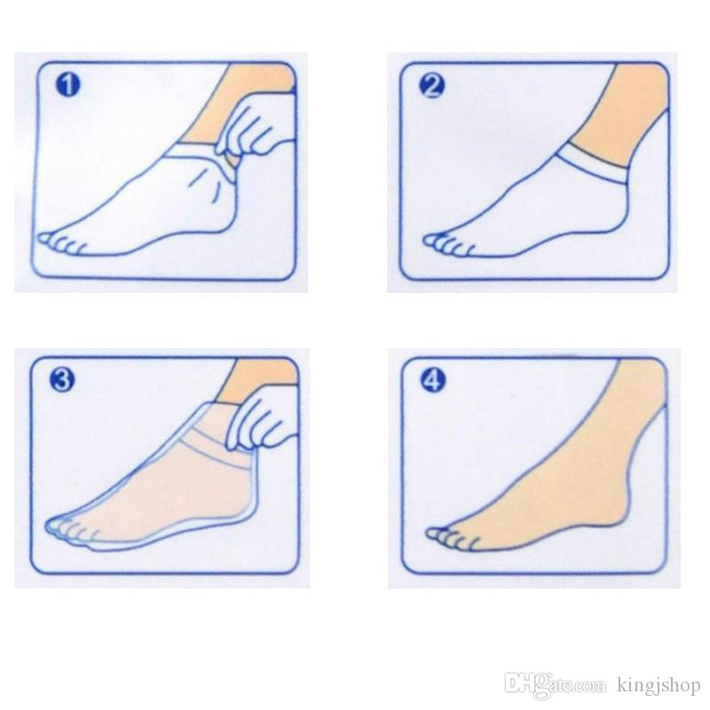 DHL ROLANJONA feet mask Baby Foot Peeling Renewal Foot Mask Remove Dead Skin Smooth Exfoliating Socks Foot Care Socks For Pedicure.