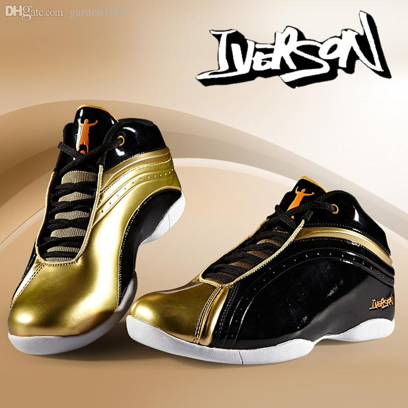 7a18605bdc81 Allen Iverson Shoes New Iverson Basketball Shoes Athletic Men Basketball  Sport Shoes Boots Basketballs Shoes Mens From Garden1001