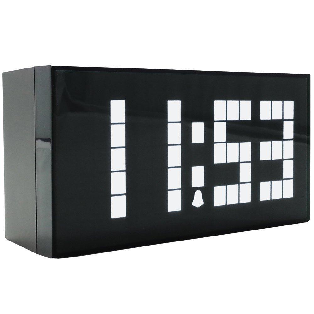 best modern design big font cuboid plastic shell led alarm clock  - see larger image