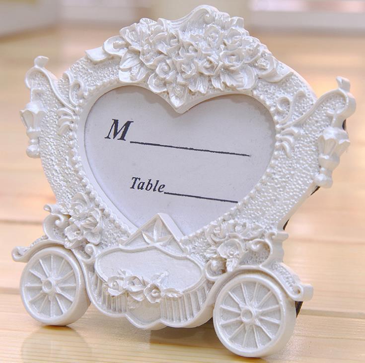 Carta da regalo bianca trasporto carrozzina di stile occidentale Regalo moda La scena del matrimonio Puntelli accessori da tavolo matrimoni