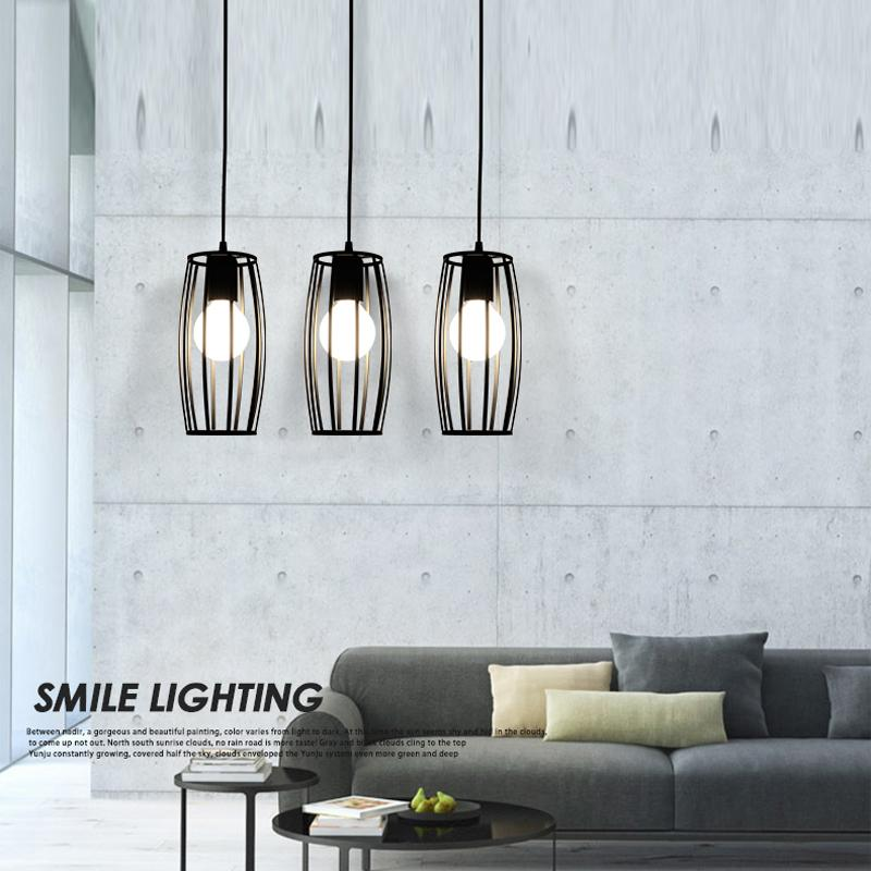 Cube Modern Led Pendant Lights For Home Black Bar Pendant Lamp - Hanging lights for kitchen bar