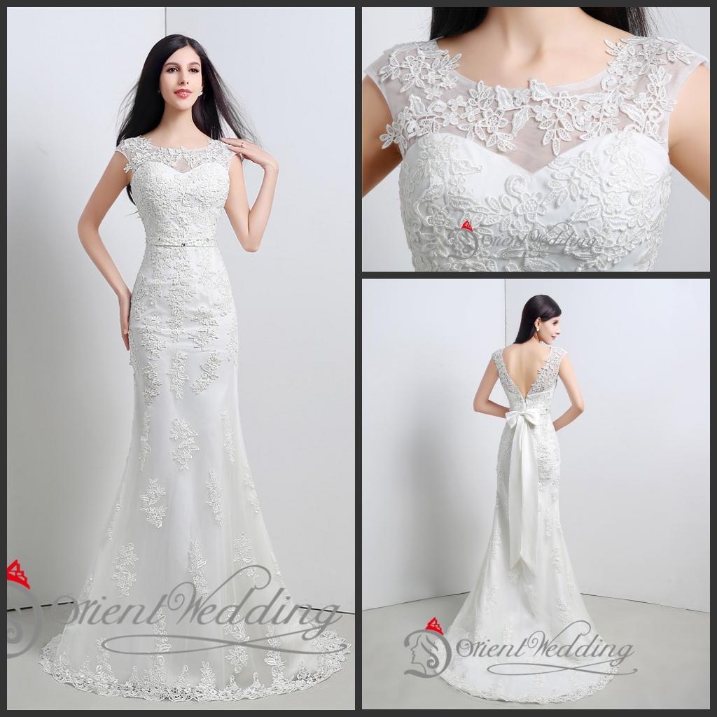 2015 Wedding Dresses Mermaid Under 100 Lace Bridal Wedding Gowns ...