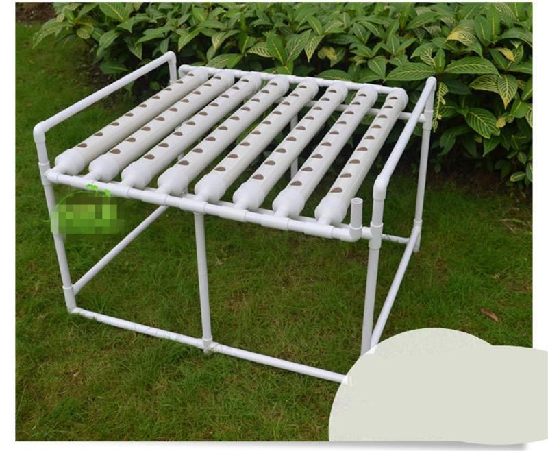 2018 diy hydroponics system nft with 8 tubes of net cup nutrient film technique nft pvc pipe. Black Bedroom Furniture Sets. Home Design Ideas